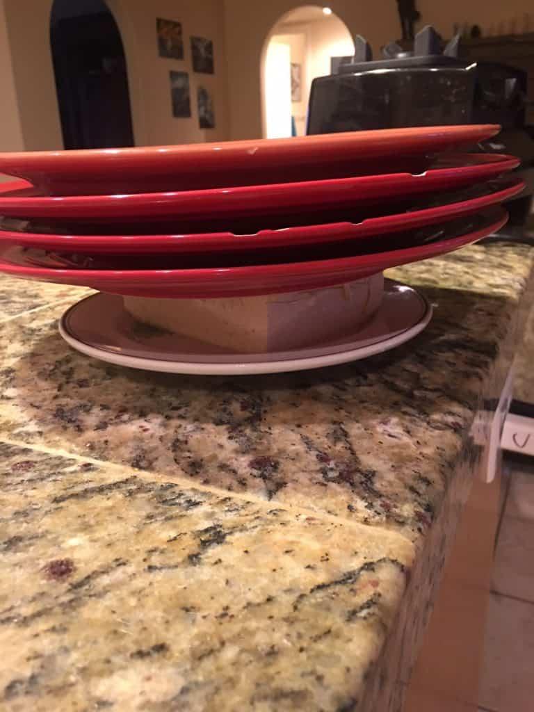 Tofu Pressed Between Plates