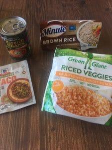 Ingredients Burritos