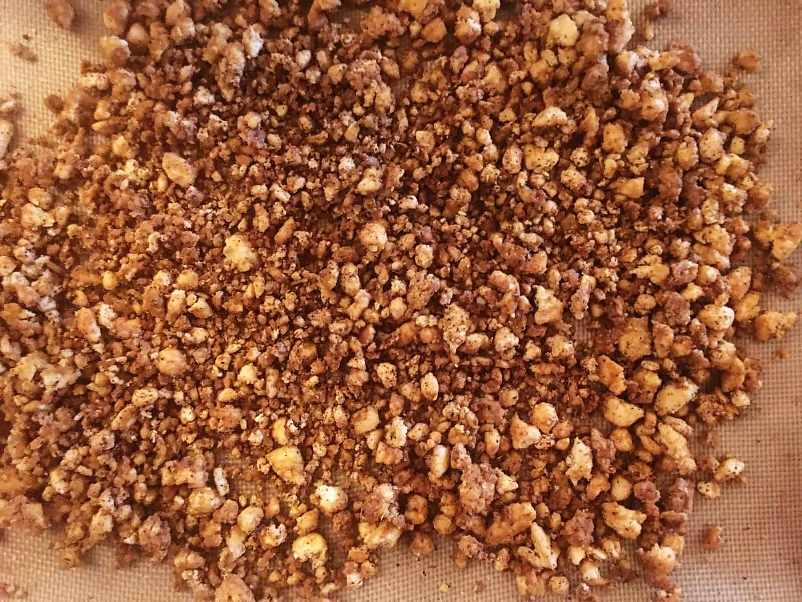 Taco Tufo Crumbles Cooked on the Pan