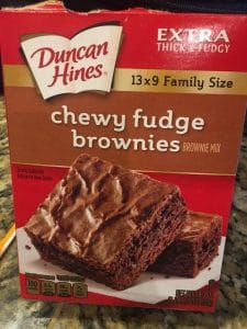 Duncan Hines Brownie Box