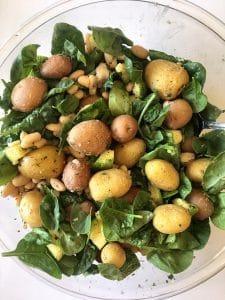 Italian Potatoes Mixing