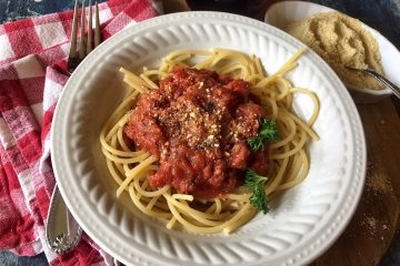 Pasta Sauce on Spaghetti