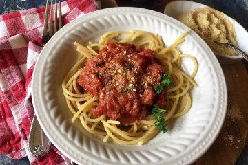 Pasta Sauce on Spaghetti