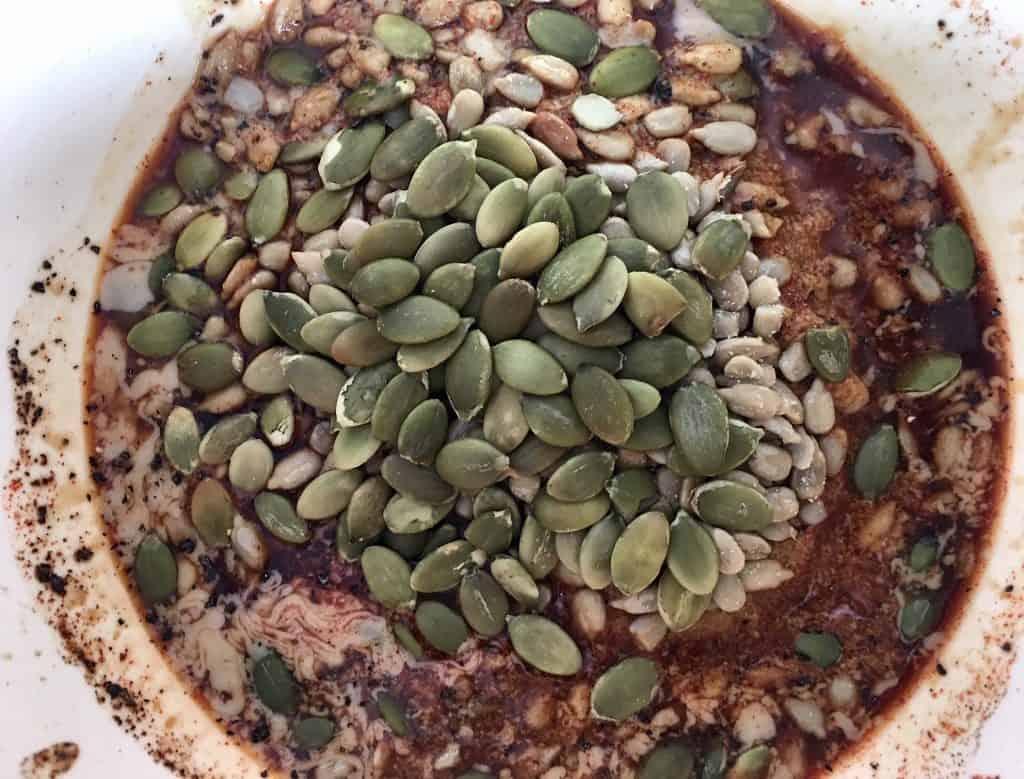 Trail Mix Tofu Ingredients in Bowl