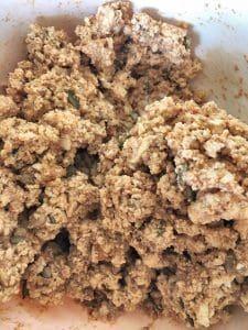 Trail Mix Tofu Crumbles Uncooked