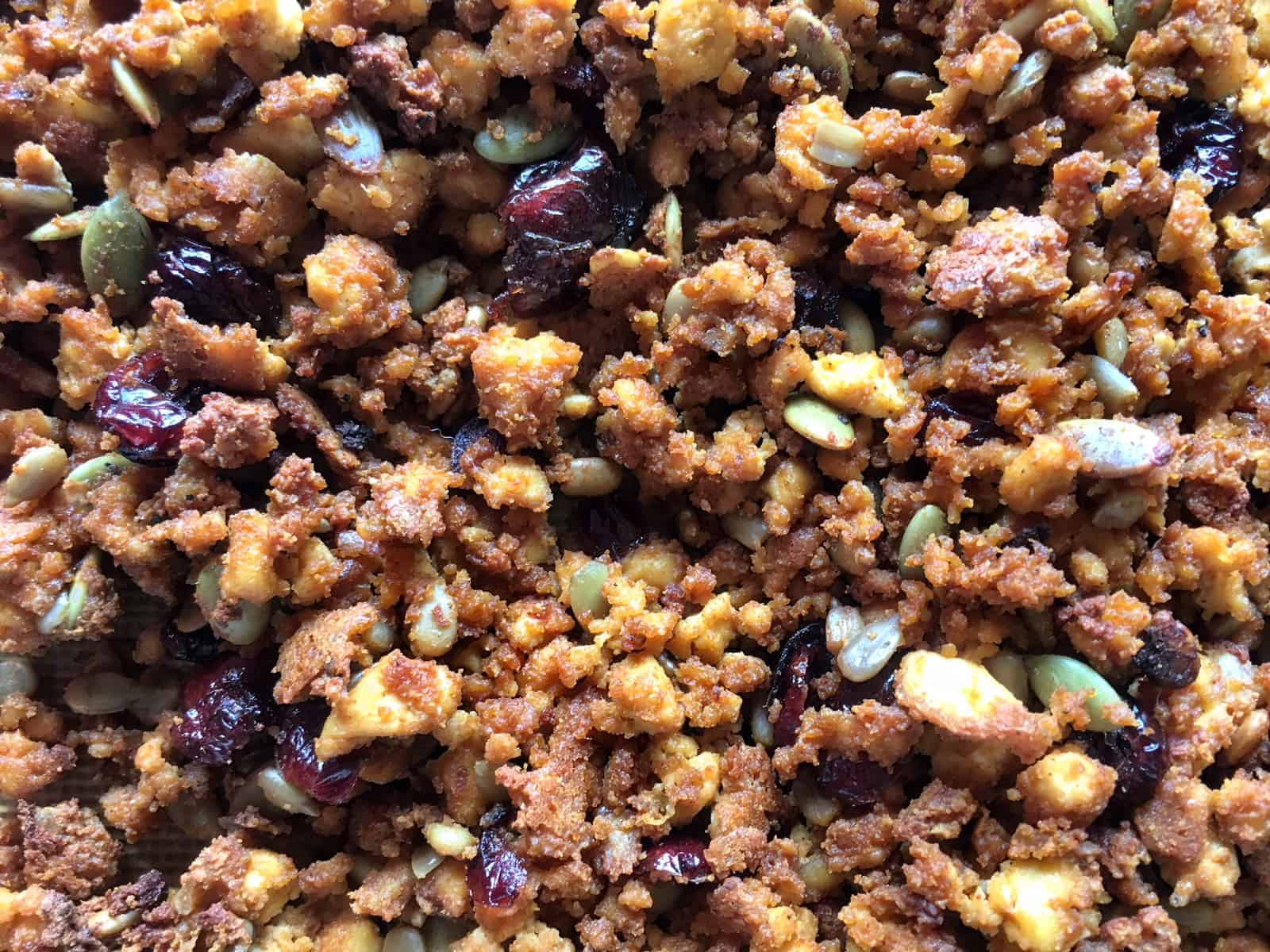 Trail Mix Tofu Crumbles