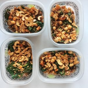 Roasted Cauliflower Salad meal prep