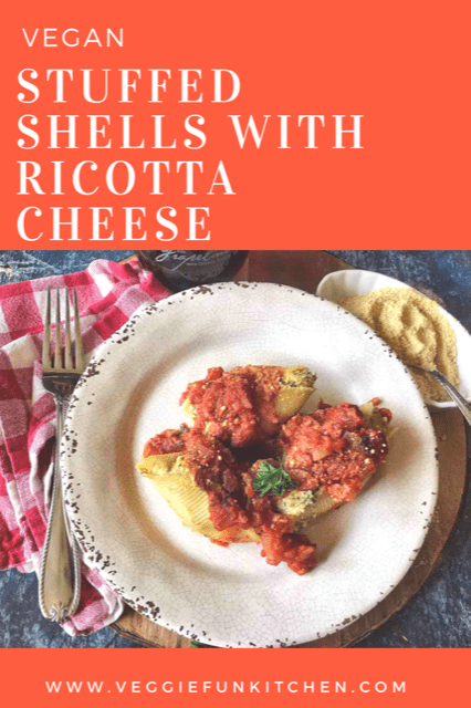 Stuffed Shells with Vegan Ricotta Cheese