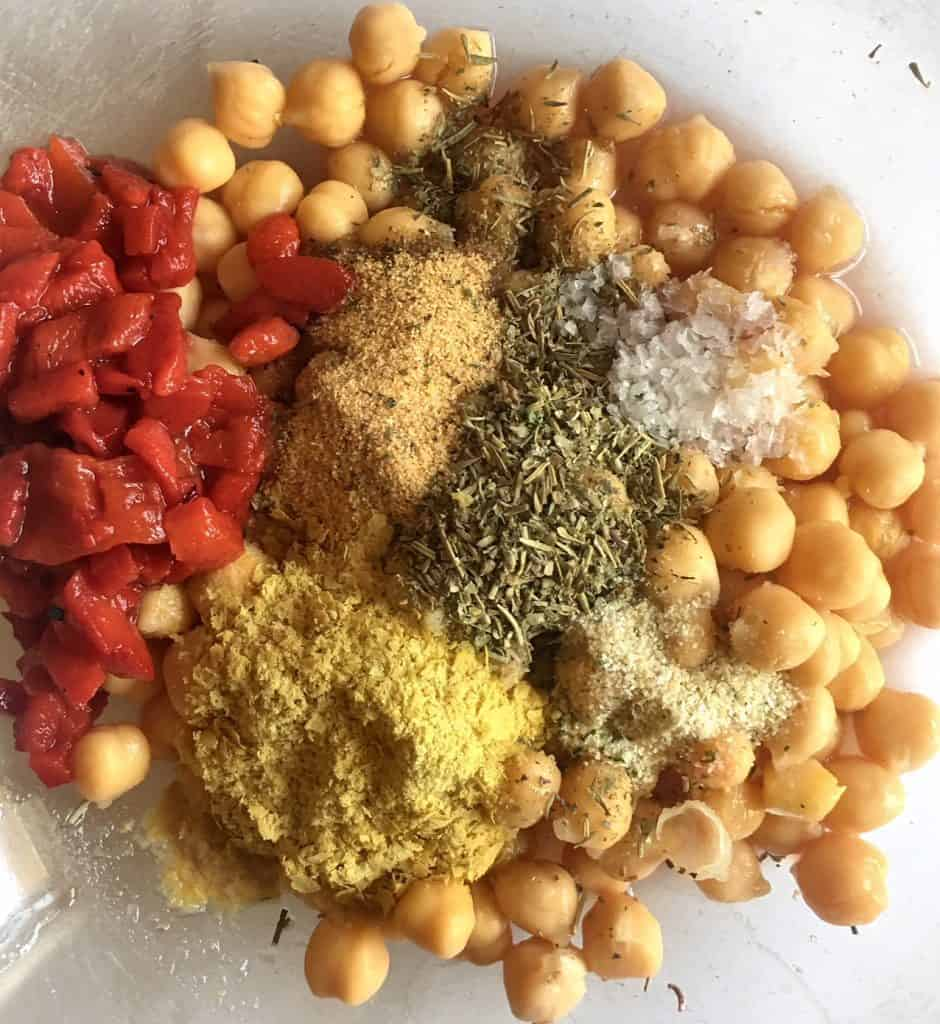 Italian Marinated Chickpeas Ingredients