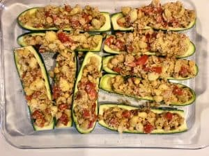 Zucchini Boats in the Pan