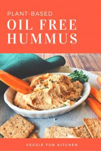Oil-free hummus