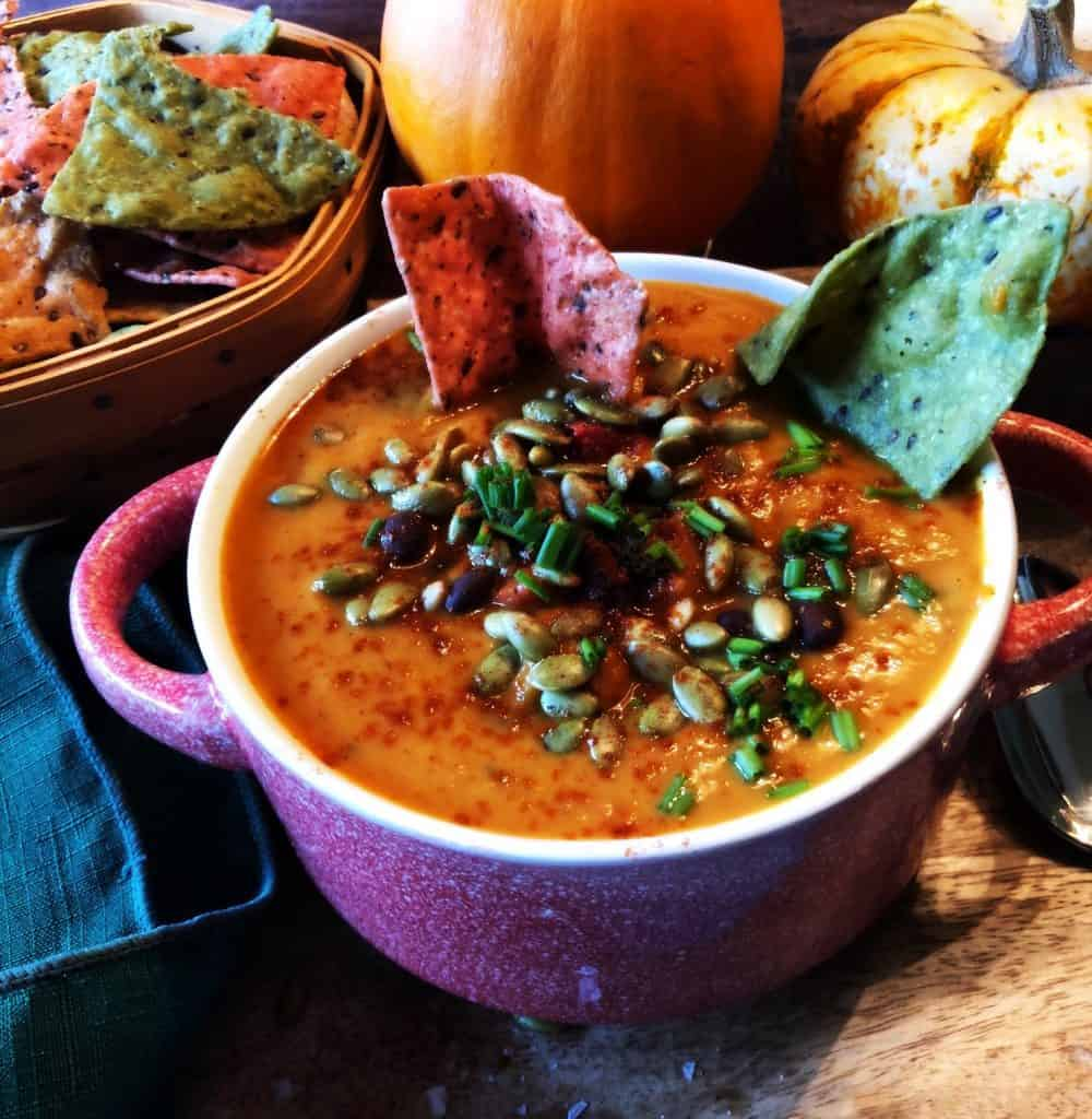 Vegan Black Bean Pumpkin Soup