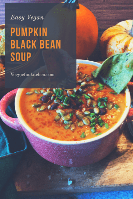 Vegan Pumpkin Black Bean Soup
