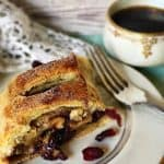 Puff Pastry Apple Cranberry Strudel