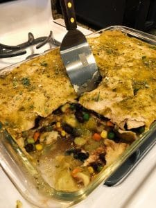 Salsa Verde Mexican Casserole - easy and vegan