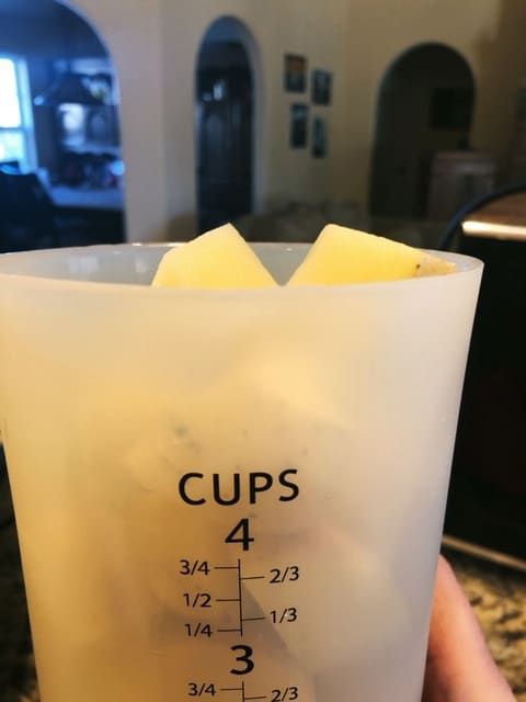 four cups of potatoes