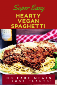 easy vegan spaghetti pin