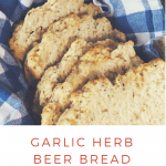garlic herb beer bread (vegan) pin