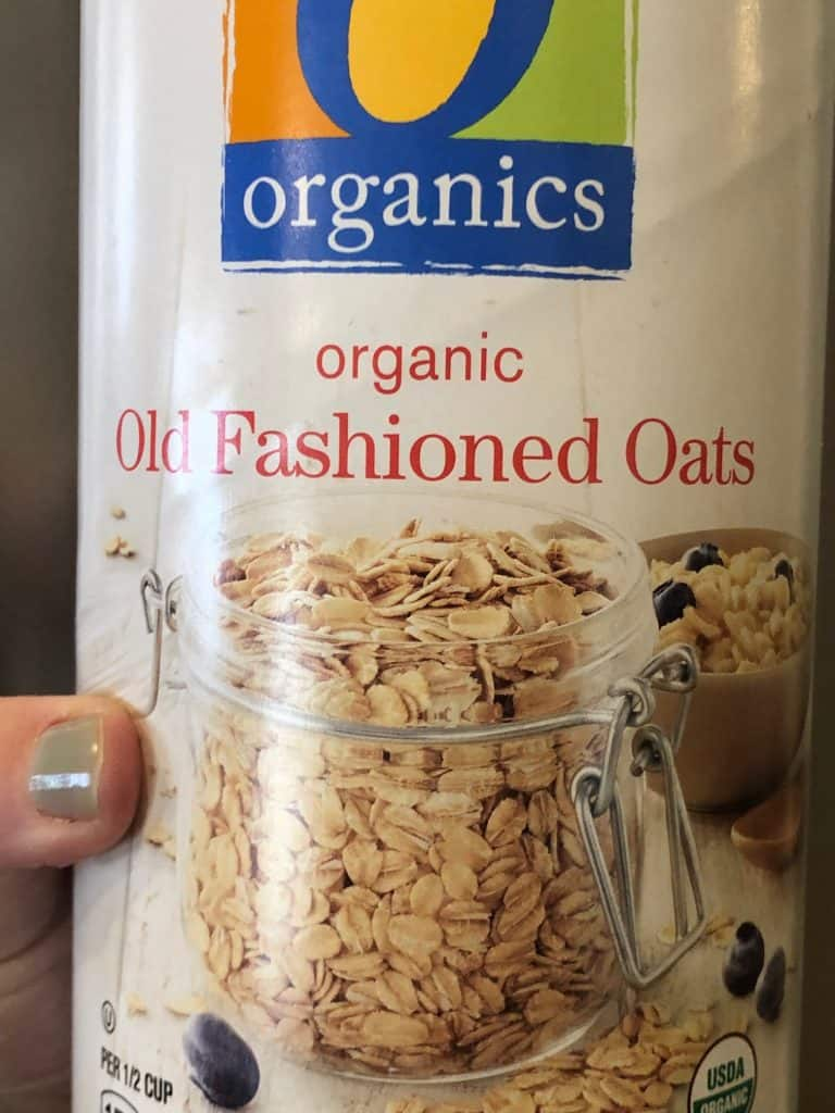 container of old fashioned oats