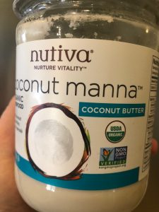 jar of coconut butter (manna)