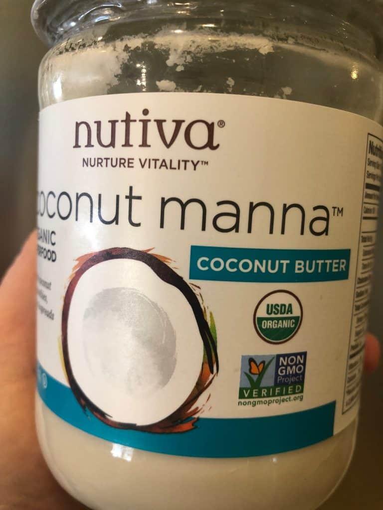 jar of coconut butter (manna)