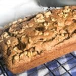 Chocolate Chip banana Nut bread in full loaf