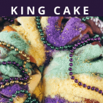 Mardi gras king cake pin