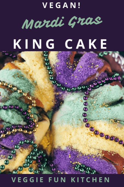 Mardi gras king cake pin