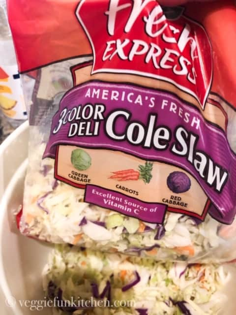 coleslaw in bag