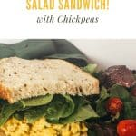 vegan egg salad sandwich pin
