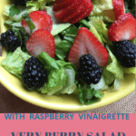 berry salad on yellow plate
