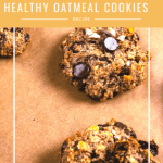 healthy oatmeal cookies on parchment paper
