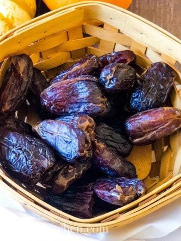 medjool dates in a basket