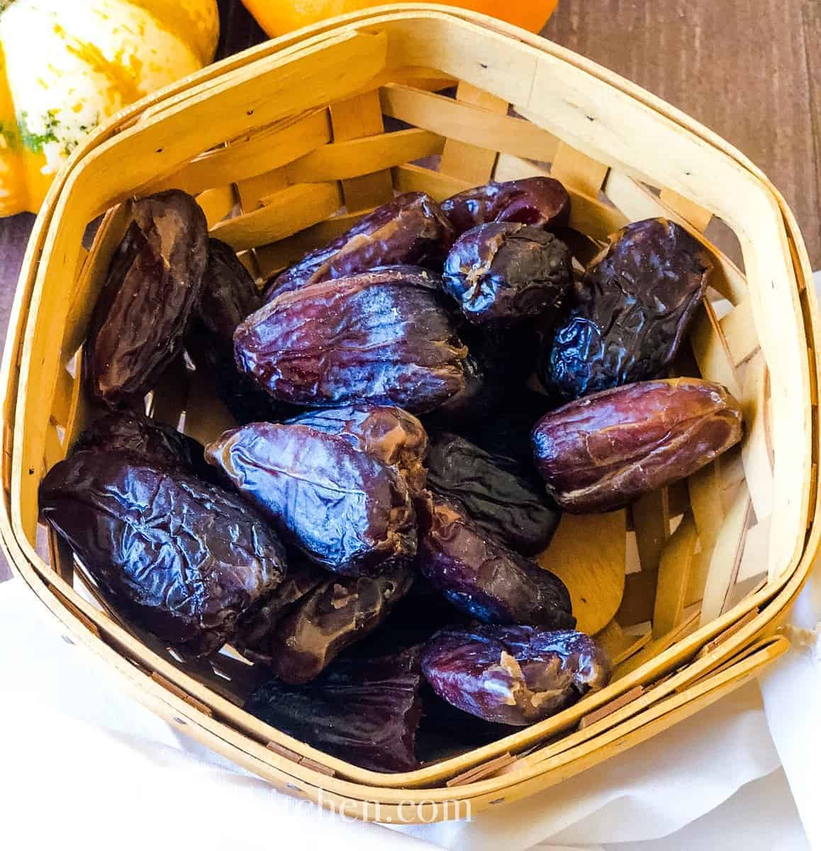 medjool dates in a basket