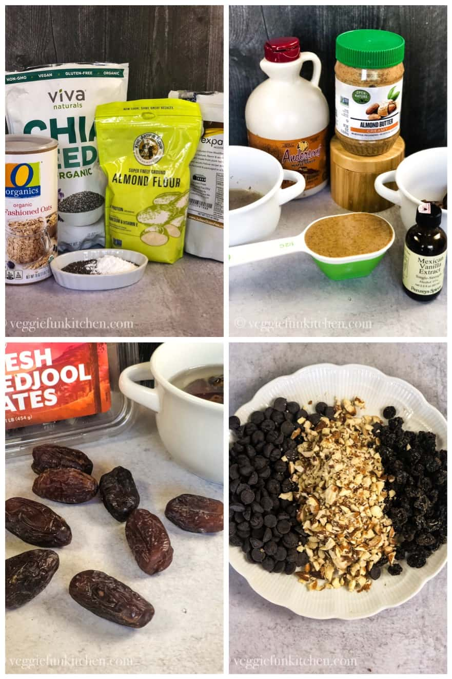 ingredients for healthy oatmeal cookies