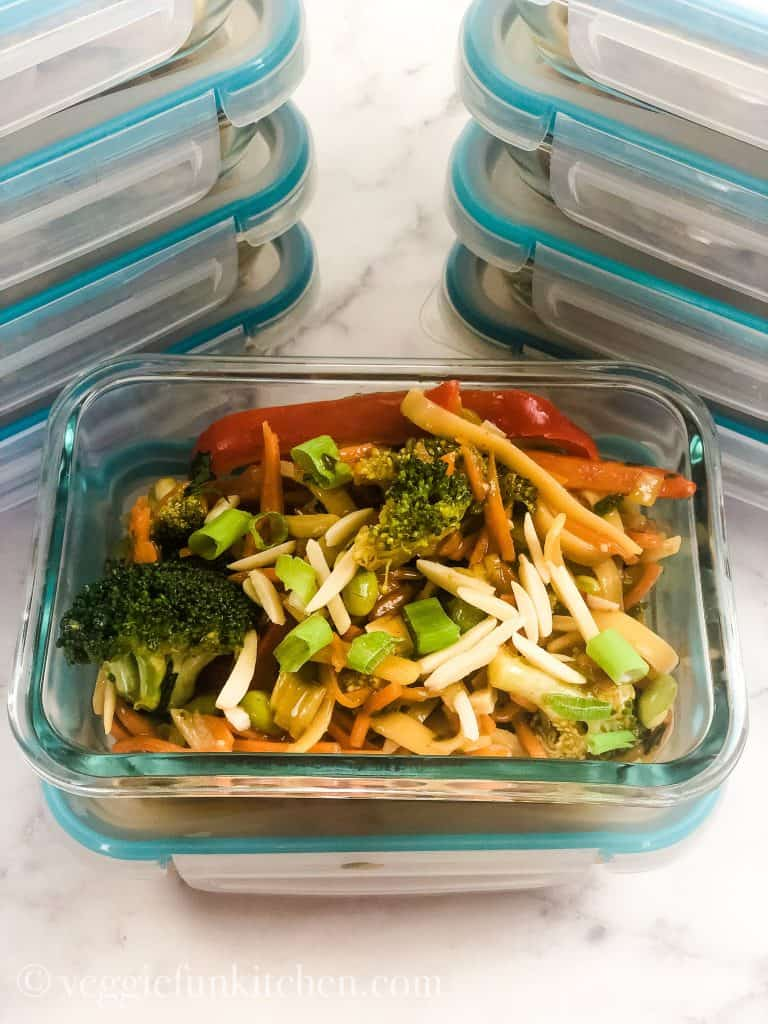 asian noodles in meal prep containers
