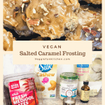 salted caramel frosting with ingredients