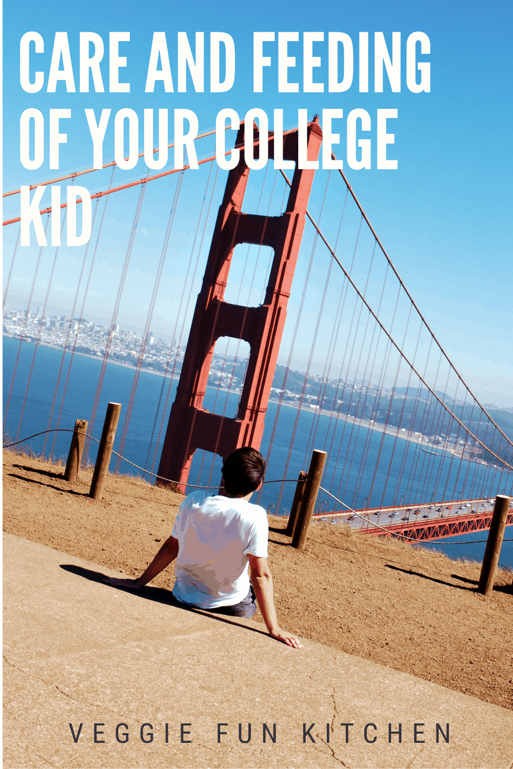 kid looking at golden gate bridge