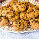 pumpkin cookies on a fall themed plate