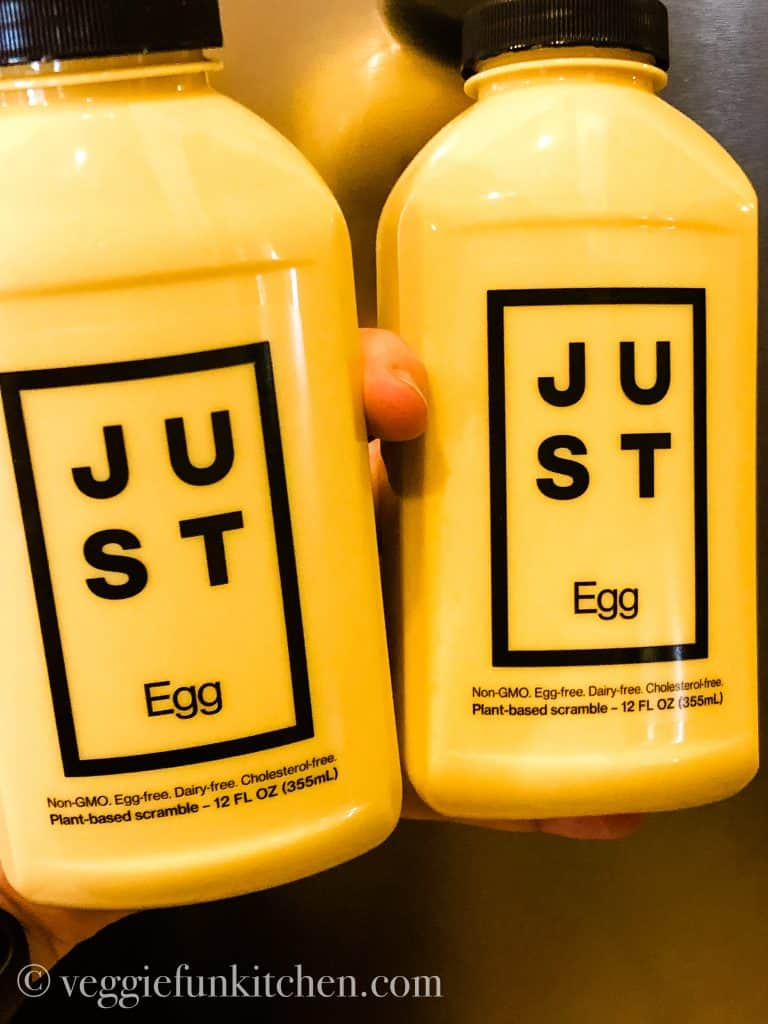 two bottles of Just Egg