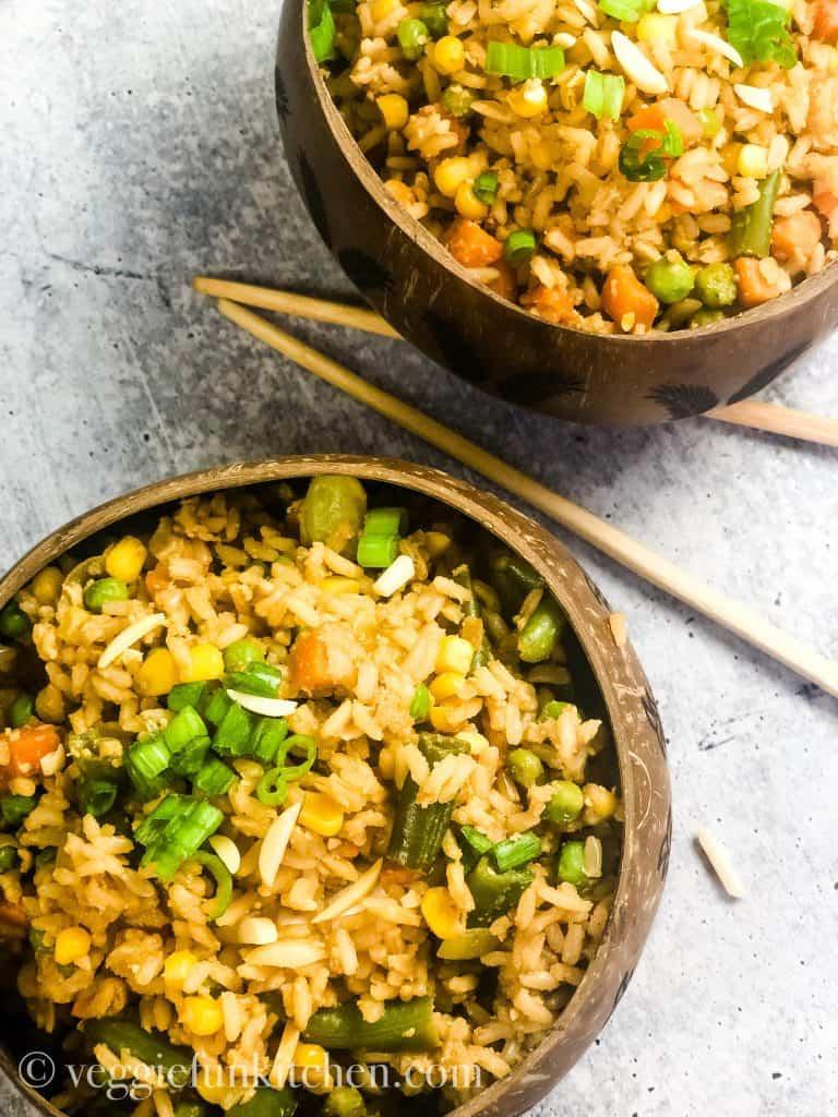 Easy Vegan Fried Rice Oil Free Veggie Fun Kitchen