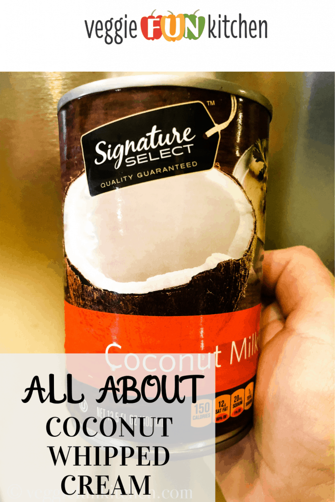 coconut milk in can with text overlay