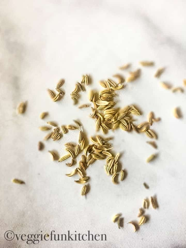 fennel seeds on counter
