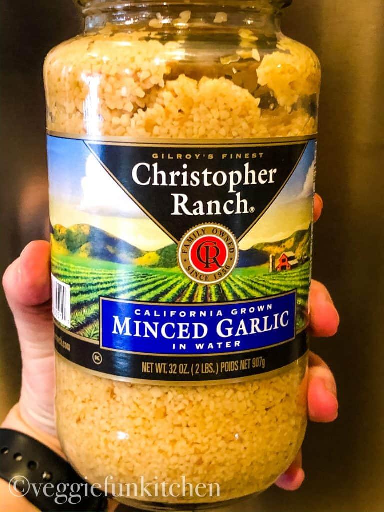 minced garlic in a jar