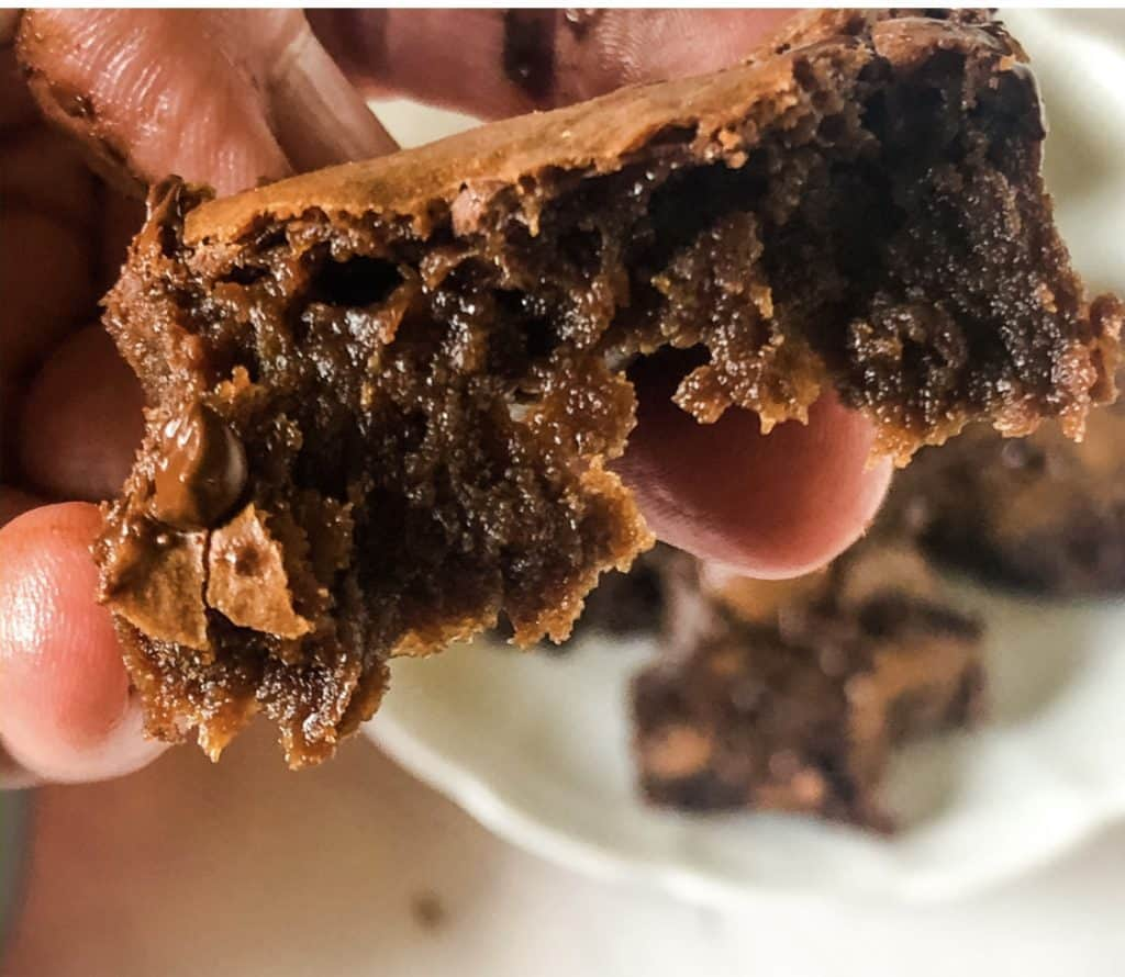 hand held fudge brownie