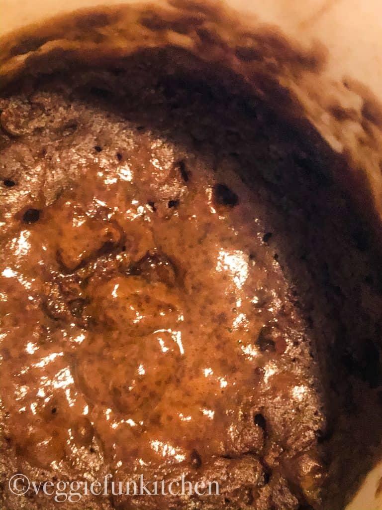 underdone mug brownie. It is wet on top