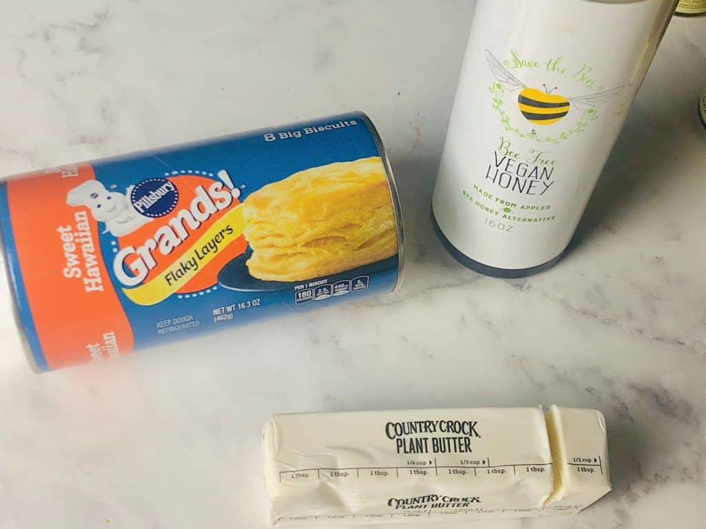 vegan biscuits butter and sweetener