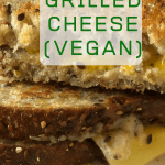 grilled cheese halves with text overlay
