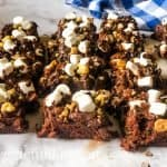 squares of rocky road brownies