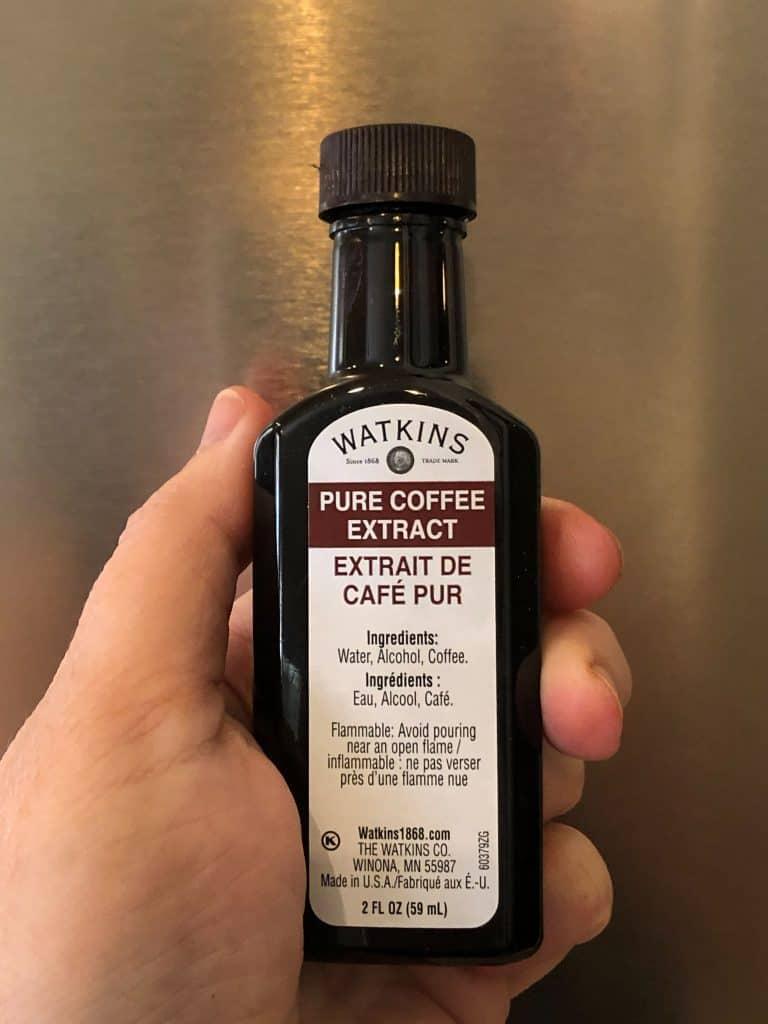 bottle of coffee extract